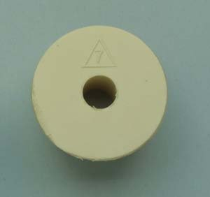 Rubber stopper size 7 drilled