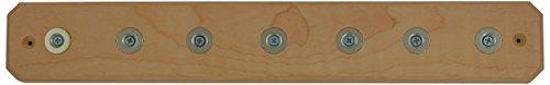 Ginkgo International 7-Position Magnet Knife Bar, 15-Inch, Maple ()