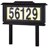 Solar Address Sign Lighted House Number Address Plaque Outdoor LED Light ()