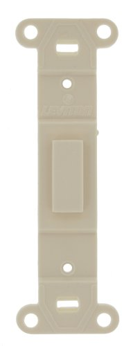 Leviton 80700-T Toggle Plastic adapter plate, Blank Toggle No Hole, Light Almond