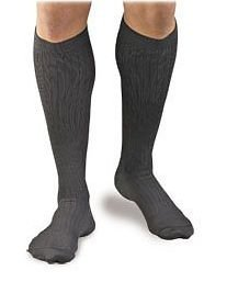 BSN Medical/Jobst H3461 Activa Men's Microfiber Dress Sock, Knee High, 20-30 mmHg, Small, Black, Pair ()