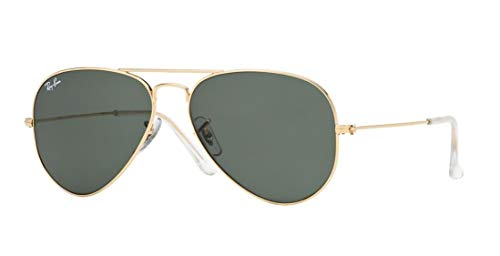 Ray Ban RB3025 AVIATOR LARGE METAL W3234 55M Gold/Gray Green Sunglasses For Men For Women ()