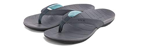 (SOLE Women's Baja Flip, Dark Grey, W 10)