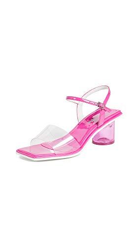 Jeffrey Campbell Women's Futuro Ankle Strap Sandals, Fuchsia/Clear, 9 M US