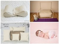 STARTER SET #12 ~ Posey Pillow Rectangulum, Backdrop stand, Squishy Poser & Set of 5 Positioners ~ NEWBORN PHOTO PROP