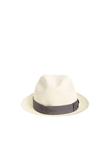 Borsalino Men's 1402610017 White Jute Hat by Borsalino