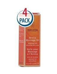 Weleda Huile de Massage Arnica première instance Taille - 0,34 onces liquides Chaque / Lot de 4