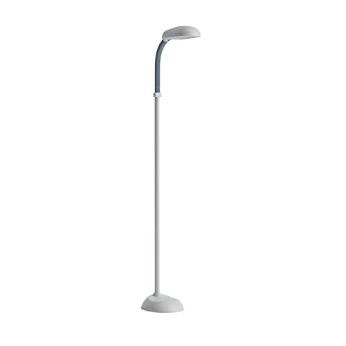 Lavish Home (72-0820) 5 Feet Sunlight Floor Lamp With Adjustable Gooseneck - White
