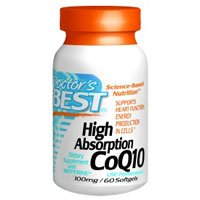 Doctor's Best High Absorption CoQ10 (100 mg), Softgels