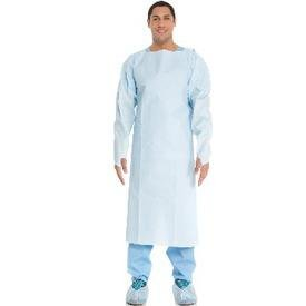 GOWN, IMPERVIOUS, OPEN BACK, BLUE, XXL ( GOWN, IMPERVIOUS, OPEN BACK, BLUE, XXL ) 100 Each / Case