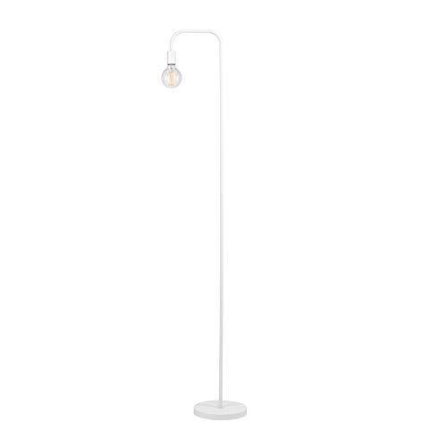 Arced Lighting Arc Floor Lamp White Light Fixture Standing Bedroom Lights Indoor Incandescent Vintage Style Curved Arm Round Base, Metal ()