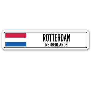 3 Pack: ROTTERDAM, NETHERLANDS Street Sign Sticker 3