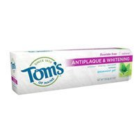 Tom's of Maine Antiplaque Plus Whitening Gel, Spearmint 4.7 oz (Pack of 4)