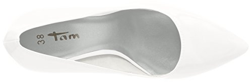 Tamaris 22447, Escarpins Femme Blanc (White Patent)