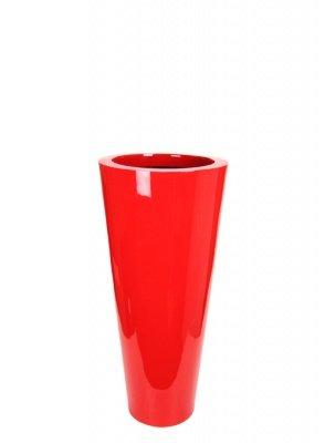 Le Present J19570.061 S Red Fiber Pot Cone44; 27.6 x 13.7 in. by Le Present