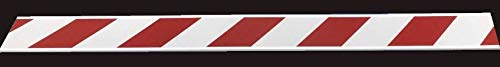 8''x1''x8' Red/White High Intensity Sheeted End of Road Barricade Panel (Right)