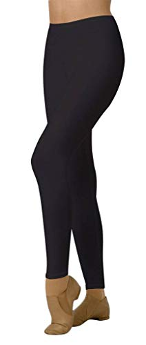 - Body Wrappers Angelo Luzio Adult Womens Prowear Waist Fit Leggings-Black-XS