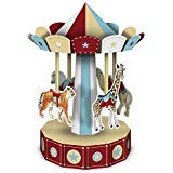 Club Pack of 12 Red and Brown 3-D Vintage Circus Carousel Centerpieces 10''