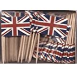 Box of 100 UK British Toothpick Flags Dinner Flags Food Flags Ships Fast
