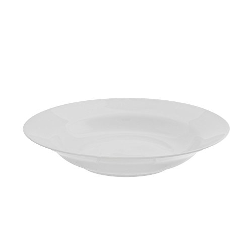 "10 Strawberry Street Royal White 9.25""/8 Oz Rim Soup Bowl, Set of 6, White"