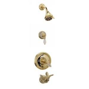(Phylrich PB2183TO_11B Antique Bronze Swan Single Handle Pressure Balance Tub and Shower Trim with Si)