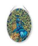 Amia Blue Rhapsody, Peacock Glass Suncatcher, ()