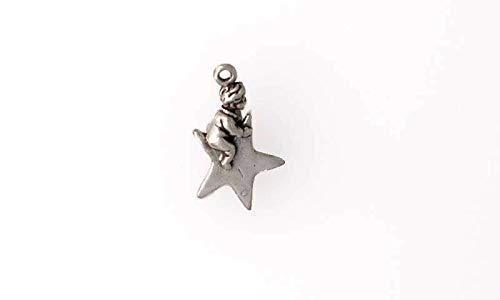 Pendant Jewelry Making/Chain Pendant/Bracelet Pendant Sterling Silver 3-D Twinkle Twinkle Little Star Charm