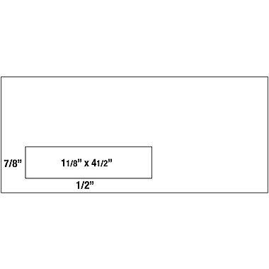Staples #10, Left Window Self-Sealing Security-Tint Envelopes, 500/Box