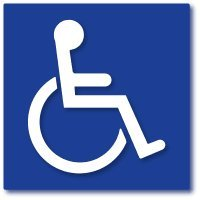 Pack of 4 Disabled/Wheelchair Symbol ADA Compliant Handicap Access Blue Stickers 3M Vinyl Decals (5