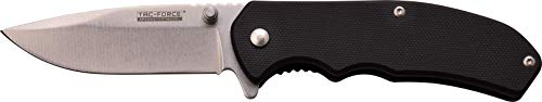 TAC Force TF-933G10-MC Spring Assisted Knife, Black G Handle, 3.7