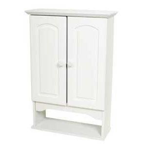 Bathroom Medicine Cabinet,Wall Mounted, Adjustable Shelf,White