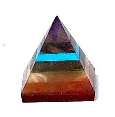 Small 20-25mm Chakra Bonded Pyramid Feng Shui Spiritual Reiki Healing Energy Charged Pyramid - Handmade Orange Agate