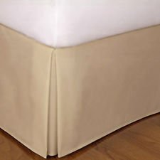 Bedskirt Pattern (400 TC 100% Egyptian Cotton 20 Inch Fall Bed Skirt Solid Pattern All Sizes & Colors (QUEEN , Taupe ))