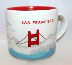 Starbucks San Francisco You Are Here mug series + BONUS souvenir Starbucks card (San Francisco) (San Mugs Francisco)