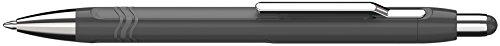 Schneider Epsilon Retractable Ballpoint Pen, Charcoal Grey Barrel, Blue Ink, 1 Each ()