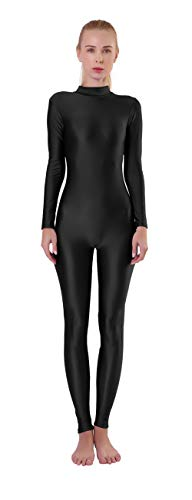 Kepblom Womens Turtleneck Full Body Long Sleeve Unitard One Piece Zentai Bodysuit Costumes