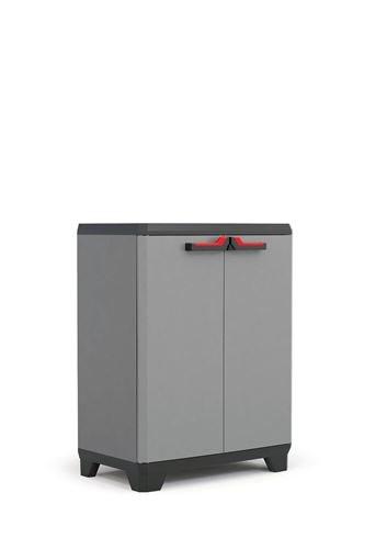 KIS Stilo - Garage cabinets (Universal, De pie, Negro, Gris, Rojo, Hinged Door) 9723000 9723000_0615