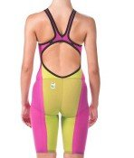 Arena 000930 Women's Powerskin Carbon Flex VX Jammer, Fuchsia-Fluo Yellow - 30 by Arena