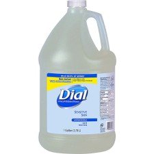 Dial Sensitive Skin Antimicrobial Soap Refill - 1 gal (3.8 L) - Kill Germs - Skin, Hand - Clear - Antimicrobial - 1 Each