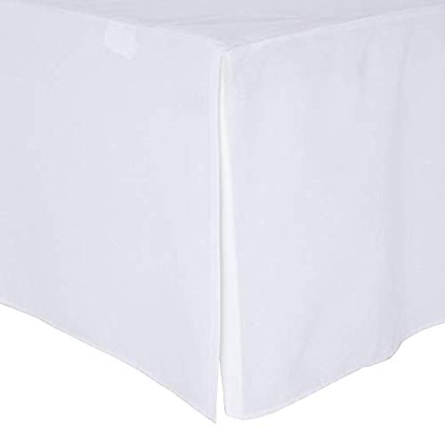 Crib Bed Skirt Pleated, 100% Natural Cotton, Nursery Crib Toddler Bedding Skirts for Baby Boys or Girls, 14