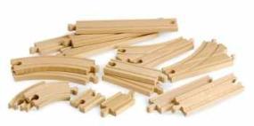 brio 33402 circuits de train en bois coffret volution interm diaires 16 pi ces amazon. Black Bedroom Furniture Sets. Home Design Ideas