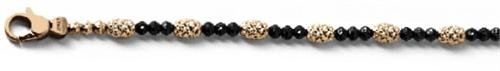 Officina Bernardi - Gothic Mars Collection - Black Bracelet (2 Color Choice) - Italian 925 Sterling Silver (rose-gold-flashed-silver, 7 Inches) by Officina Bernardi