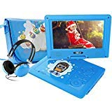 """FUNAVO 9.5"""" Portable DVD Player with Headphone, Carring Case, Swivel Screen, 5 Hours"""