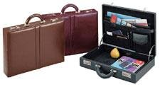 Top Grain Leather Attache Case (Top Grain Leather Attache Case Color: Black)