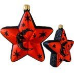 Slavic Treasures HAL084007 Vintage Sparkle Halloween Ornament Star