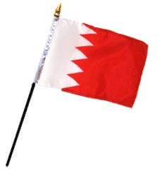 4x6 12 Polyester Flags Ant Enterprise Pack of 12 Dozen Bahrain Miniature Desk /& Table Flag Includes 12 Polyester Small Mini Stick Flags