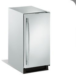 U-Line 2115RS01 Echelon Series 15'' 3.3 Cu. Ft. Undercounter Built-In Refrigerator With Automatic Defrost In Stainless Steel With Left Hand Hinge - Energy Star by Uline