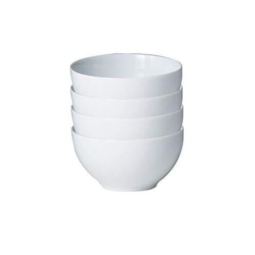 Denby WHT-209/4 White Set of 4 Rice Bowl Set, One size, Neutral
