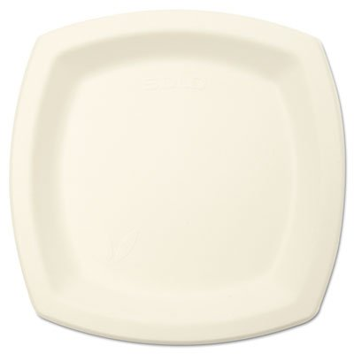 Solo 6PSC2050PK Bare Eco-Forward Dinnerware, 6 in. Plate, Ivory. 125 Per Pack