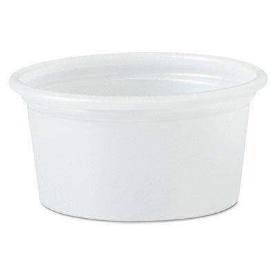 Solo Cup Company - Plastic Souffle Portion Cups, 3/4 Oz., Translucent, Squat, 250/Bag